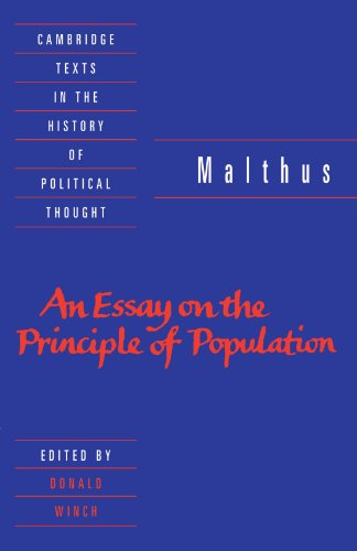 Malthus: 'An Essay on the Principle of Population' (Cambridge Texts in the History of Political Thought)
