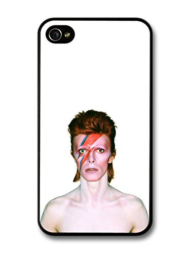 David Bowie Eyes Closed Lighting Portrait custodia per iPhone 4 4S