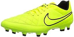 Nike Men\'s Tiempo Genio Leather FG Volt/Volt/Hyper Punch/Black Soccer Cleat 8.5 Men US