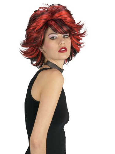 Choppy Wig Red And Black Costume Wig