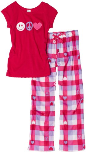 Girls 7-16 Plaid Sleepwear Set