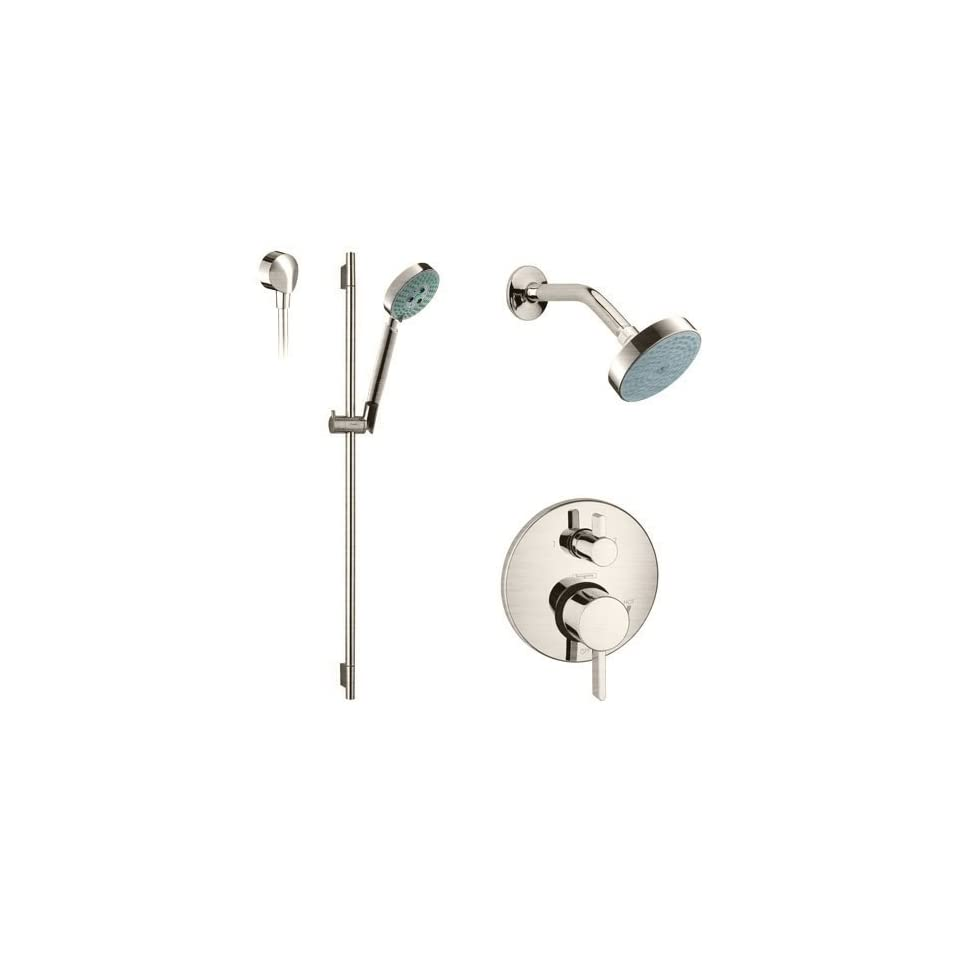 Hansgrohe HG PB201 Brushed Nickel Faucet Hansgrohe HG PB201 S Series Pressure Balanced Shower System