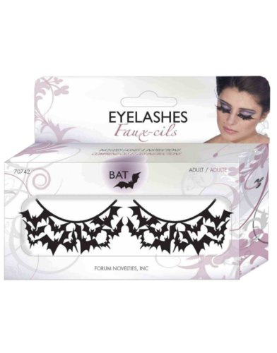 Women's Sexy Black Bats Costume Paper Eyelashes