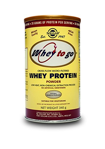 Solgar Whey To Go Protein Powder, Natural Vanilla Flavor,...