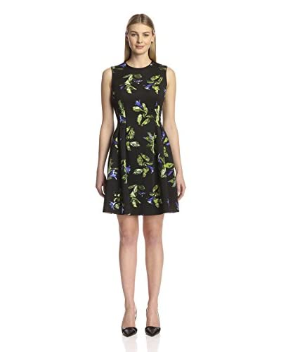 Marc New York Women's Printed Fit and Flare Dress