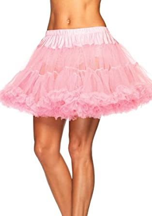 Leg Avenue Women's Layered Tulle Petticoat, Pink, One Size