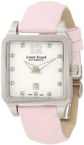Louis Erard Emotion 20700AA11.BDS60 29mm Diamonds Automatic Stainless Steel Case Pink Satin Anti-Reflective Sapphire Women's Watch