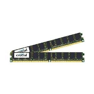 Crucial Technology CT2CP25672AV667 4 GB (2 GBx2) 240-pin DIMM DDR2 PC2-5300 CL=5 Registered ECC DDR2-667 1.8V 256Meg x 72 Low Profile Memory Kit