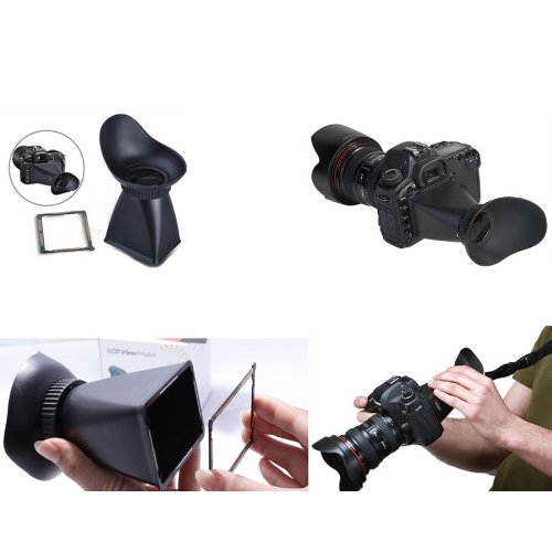Goliton® 2.8X Lcd View Finder Viewer Extender For Canon Eos 5D Mark Ii, 7D, 500D - Black