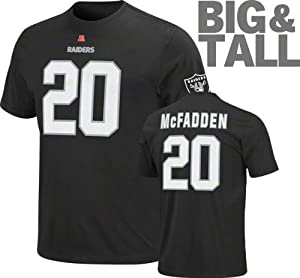 NFL Darren McFadden Oakland Raiders Eligible Receiver Big Sizes T-Shirt - Black by Profile Big and Tall