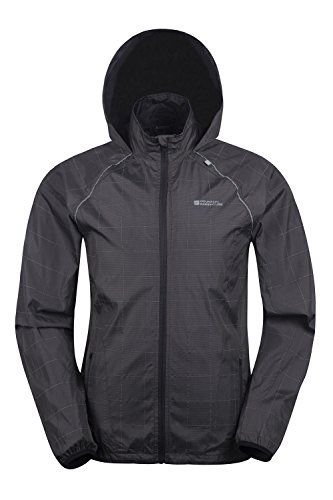 Mountain Warehouse Giacca impermeabile da uomo catarifrangente Blaze Nero Large