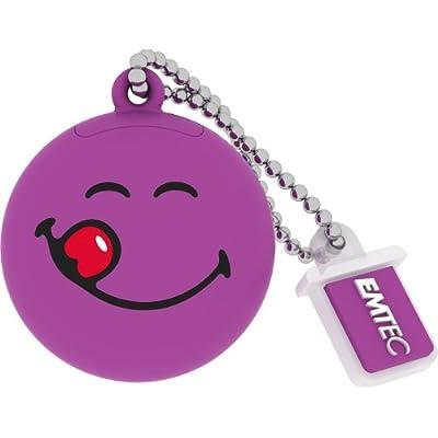 EMTEC Smiley World 8 GB USB 2.0 Flash Drive, Purple