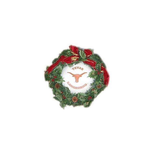 Texas Longhorns 22 Holiday Christmas Wreath   NCAA College Athletics