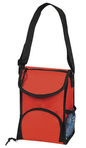 Deluxe Insulated Lunch Pack Cooler Bag, Red by BAGS FOR LESSTM - 1