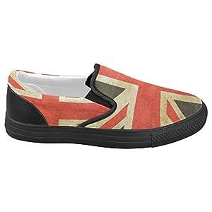 VIKISO Union Jack Slip On Canvas Women's Fashion Shoes Sneaker - US7.5