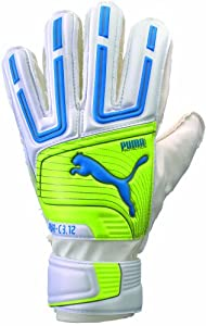 Puma PowerCat 3.12 Protect Junior Soccer Goalie Glove, White, 4