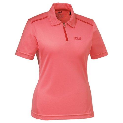 Jack Wolfskin Damen Shirt Coolmax Polo Women, Grapefruit, XXL, 1802451-2037006