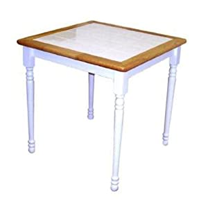 Tile Square Table White Natural 30 X 30 X 29 1 4 Review Small Kitchen Tables