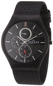 Skagen Herren-Armbanduhr XL Analog Quarz Leder 806XLTBLB