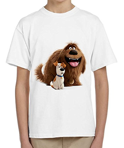 The Secret Life Of Pets 2 Dogs Awesome Animal Design Kids Bambini White T-shirt