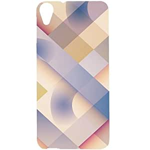 Casotec Striped Design Hard Back Case Cover for HTC Desire 820