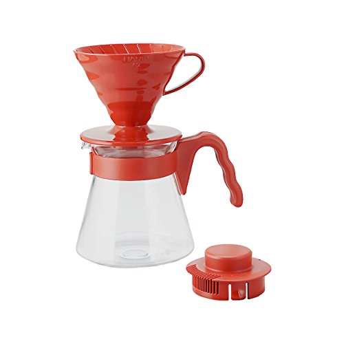 Hario V60 Coffee Sever Set, Red (Hario Coffee Dripper compare prices)