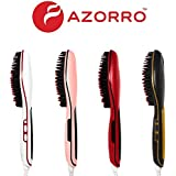 [PATENTED] Professional Ionic Best Hair Brush Straightener For Styling By Azorro, Detangling, Straightening, Frizz-Free...