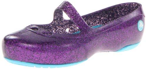 Crocs Kids 14412 Carlisa Glitter Flat ,Dahlia/Surf,13 M US L