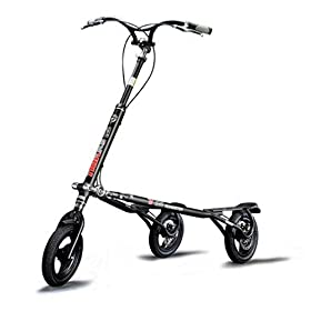 Trikke Tech T12 Series 3-Wheeled Carving Scooter (Charcoal)