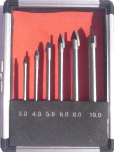 6 PC PIECE GLASS AND TILE DRILL BIT SET KIT