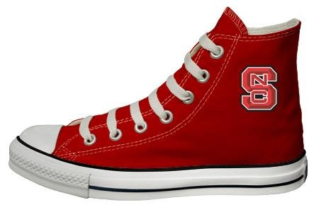 Buy Converse Chuck Taylor All Star Hi Top Red North Carolina State University Logo Canvas