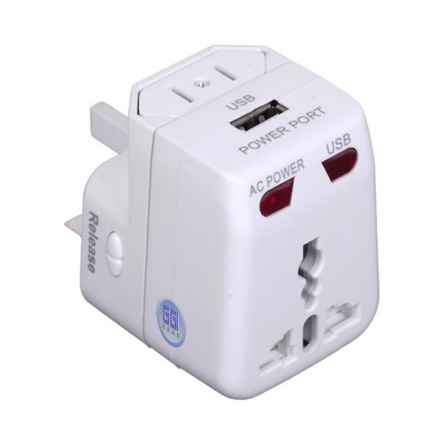 GGI Universal World-Wide Travel Adapter with USB port