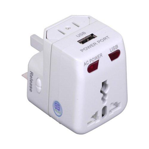 GGI Universal World-Wide Travel Adapter with USB port