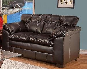 ACME 50356 Hayley Loveseat with Premier Chocolate Bonded Leather
