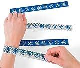 Metallic Snowflake Slap Bracelets 12 Count