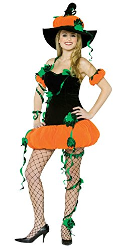 Adult Pumpkin Lady Costume Size: Women's Standard 6-10