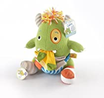 Baby Aspen Closet Monster Knit Baby Socks and Plush Monster Gift Set, Calvin