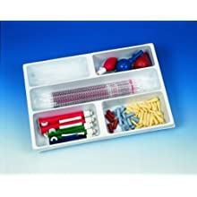 Heathrow Scientific HD2538B Polystyrene Drawer Organizer with 5 Compartment Tray, 460mm Length x 307mm Width x 63mm Height