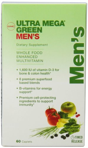 Gnc Ultra Mega Green Mens Multi Tablets, 60 Count