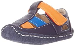 See Kai Run Luke Fisherman Sandal (Infant),Blue/Teal/Orange Accents,6-9 Months M US Infant