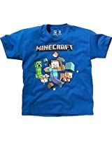 Minecraft MINE CRAFT Exclusive Brand New Run Away Royal Blue T Shirt - Ideal Minecraft Gift