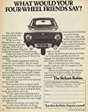 Mugs-n-More Metal Wall Art Plate Featuring Reliant Robin Advert #MM308