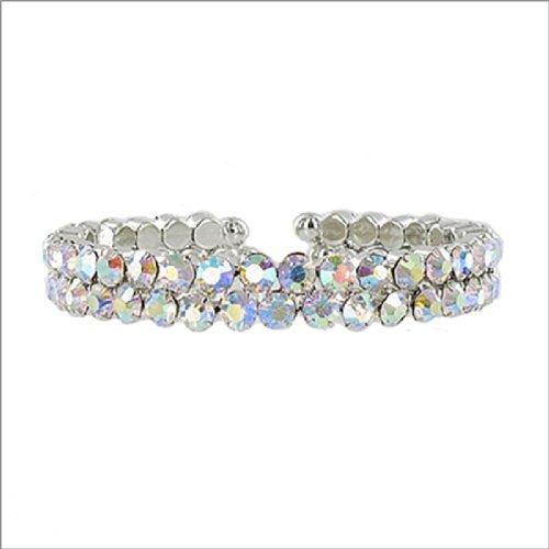 JOA Two Line Crystal Stone Cuff Bracelet #041374