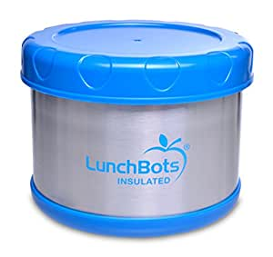 lunchbots thermal 16 ounce stainless steel insulated food container wide mouth soup. Black Bedroom Furniture Sets. Home Design Ideas