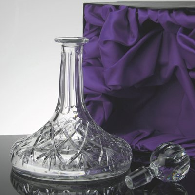 Chelsea Hand Cut Lead Crystal Ships Decanter