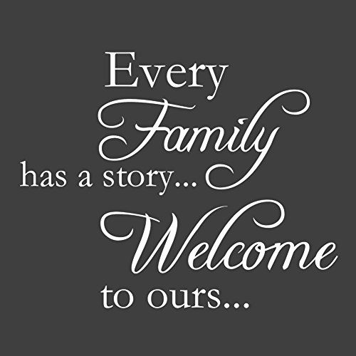 Every Family Has A Story...Welcome To Ours - Vinyl Wall Quotes Stickers Sayings Home Art Decor Decal(White) (Wall Decals White compare prices)