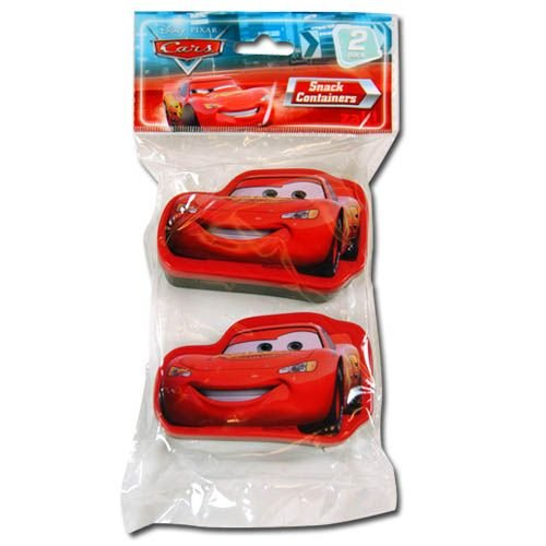 2pk Disney Cars Snack N Store Food Storage Containers - 1