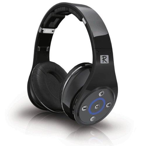 Bluetooth ヘッドホン Bluedio R ブラック | ワイヤレスイヤホン マイク付き 片側4スピーカー 有線接続にも対応