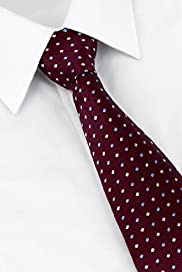 Ultimate Performance Pure Silk Spotted Woven Tie