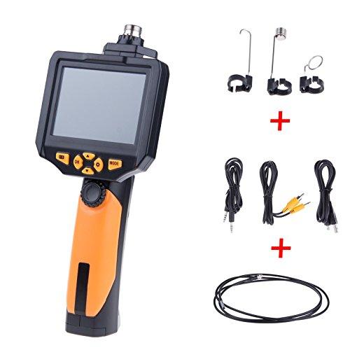 Lemonbest Pro 3.5 Inches Inspection Camera 4X Zoom Rotate Video Snapshot Borescope 3.0 Megapixels Monitor Endoscope Inspection Camera 3M/9.9Ft Tube